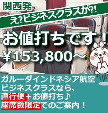 【関西発】直行便×ビジネスが今お得!