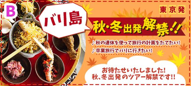 【東京発バリ島旅行】秋・冬出発解禁しました!