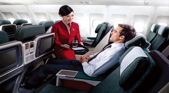 キャセイパシフィック航空のビジネスクラスで優雅にドバイ旅行♪