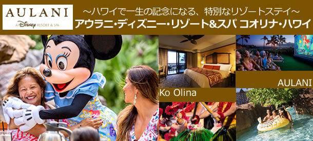 東京・関西発ハワイ旅行 10~3月 アウラニ・ディズニー・リゾート宿泊プラン