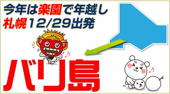 【まだ取れる!】札幌12/29出発チャーター便で行くバリ島5日間!朝食&日本語ガイドの送迎付き!