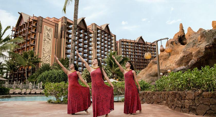 ハワイアン航空直行便!大人気アウラニディズニーとホノルル市内ホテルに泊まる分泊5日間!