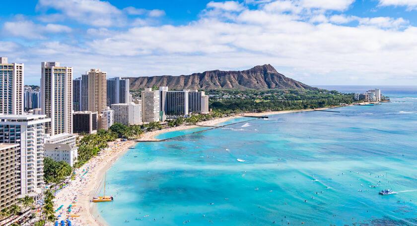 1~3月出発限定!ハワイアン航空直行便で行く!滞在中トロリー乗り放題付常夏ハワイ!