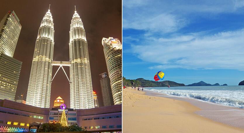マレーシア航空で行くマレーシア【クアラルンプール&ランカウイ島】2都市周遊ツアー!