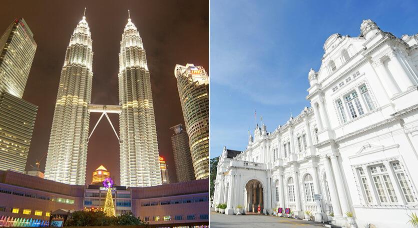 マレーシア航空で行くマレーシア【クアラルンプール&ペナン島】2都市周遊ツアー!