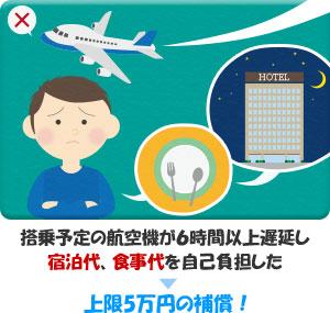飛行機の遅延・欠航による宿泊費や食費代は自己負担?